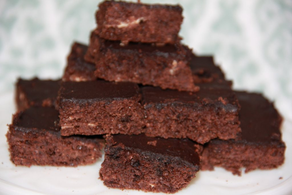 Sugar-Free Frosted Carob Brownies