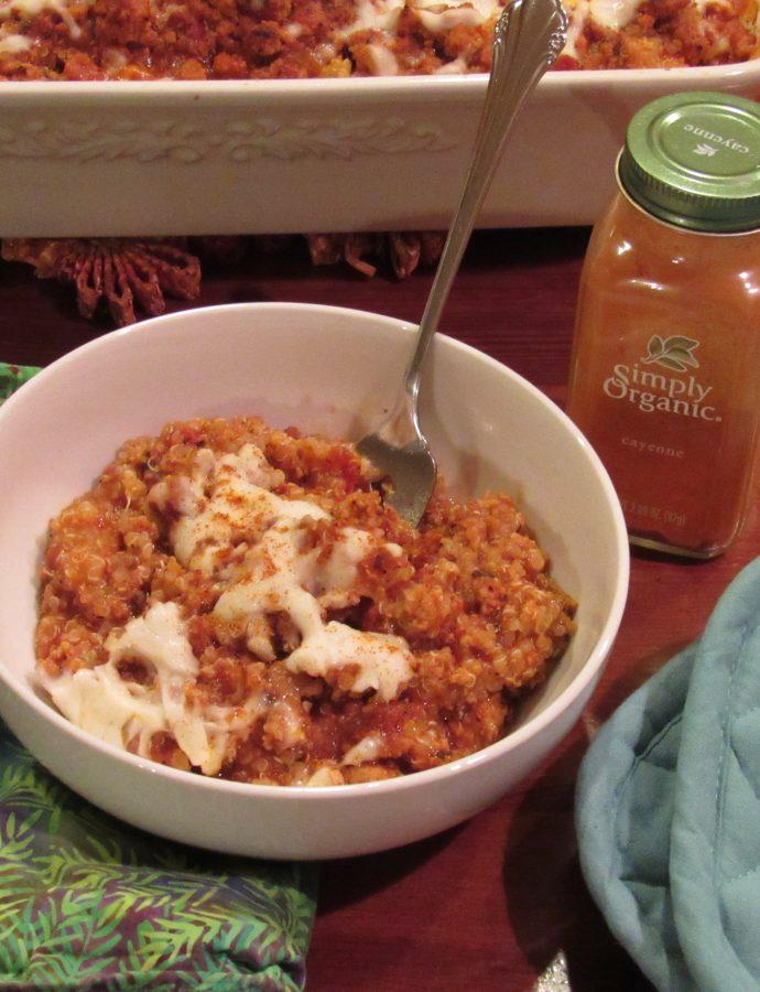 Meatsauce Quinoa Bake