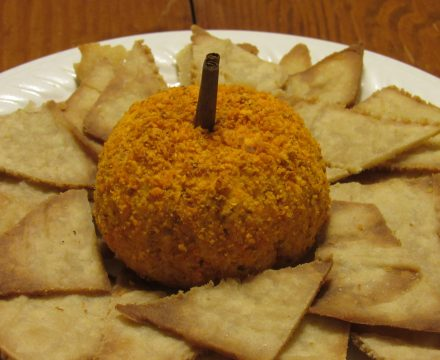"""Pumpkin"" Cheese Ball"
